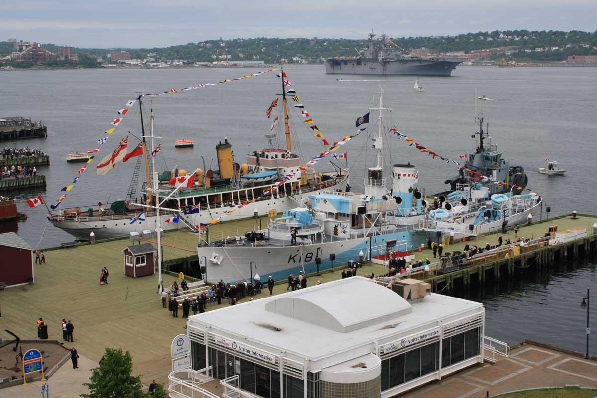 HMCS Sackville and CSS Acadia