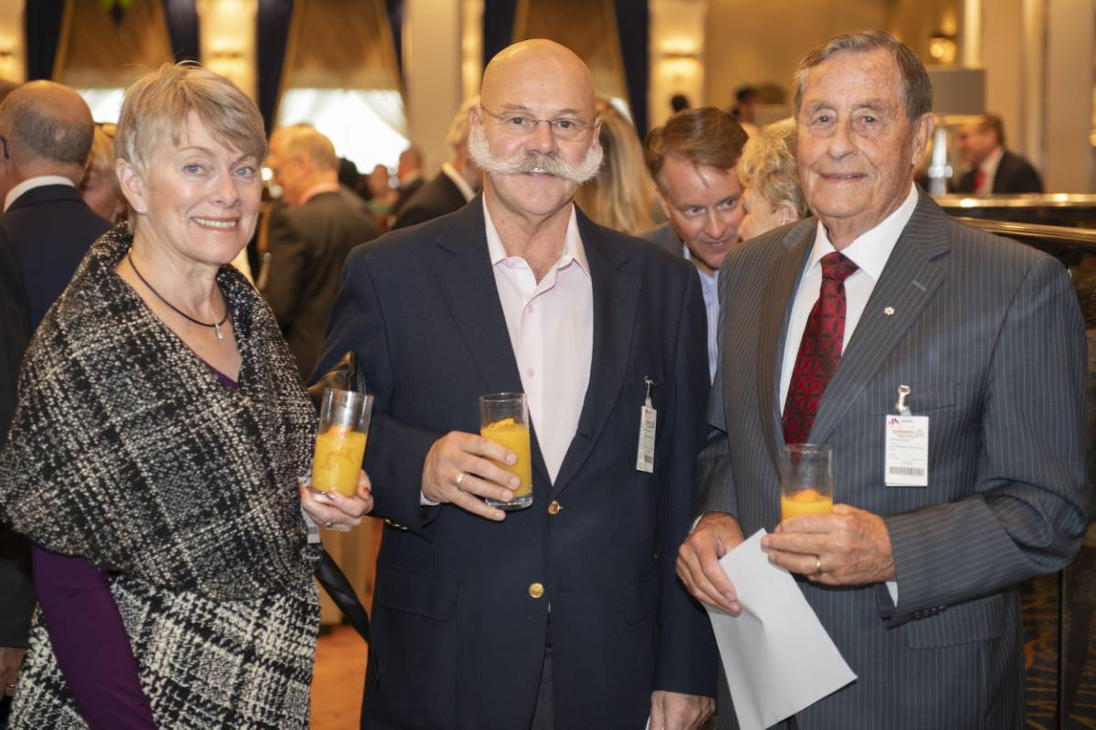 Wayne and Joan Myles with Ken Rowe